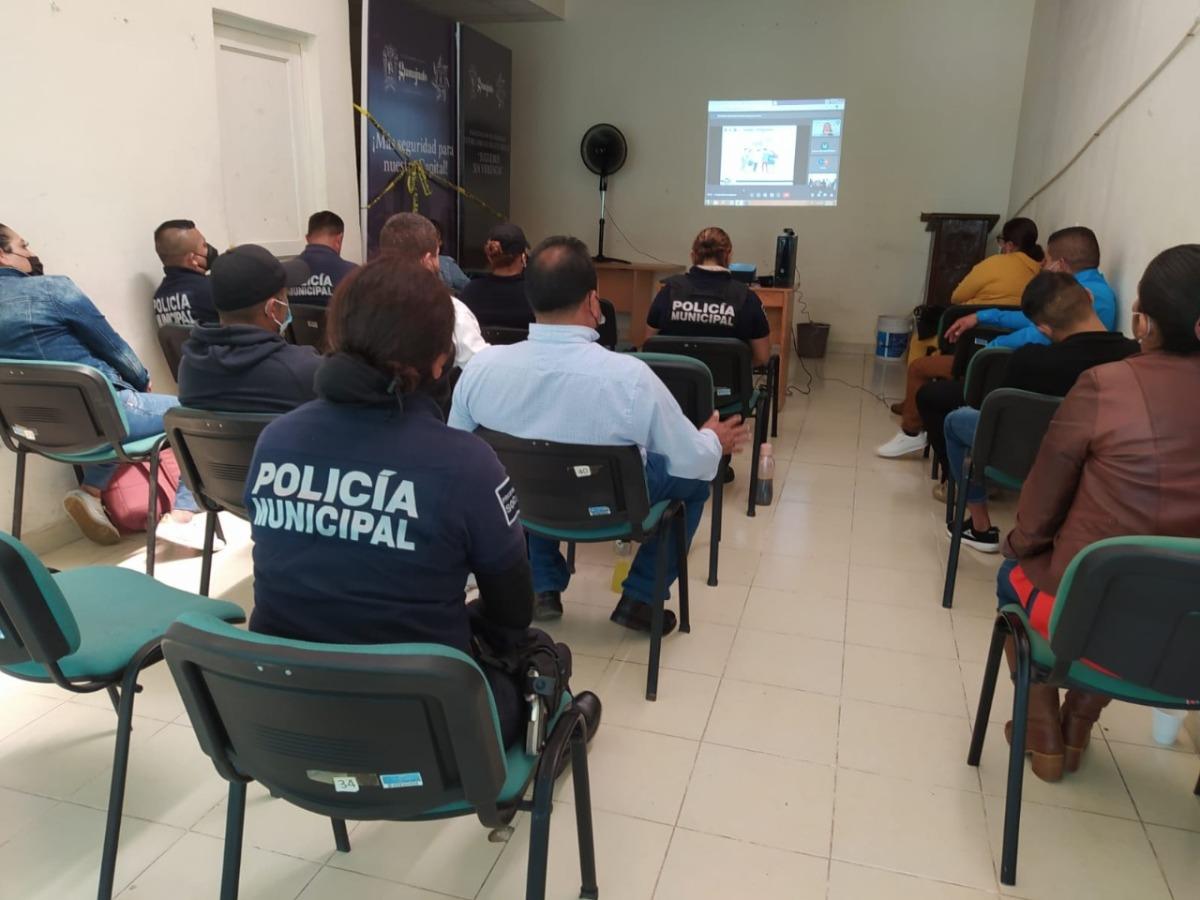 Complementan cursos Policías Municipales en Violencia deGénero.
