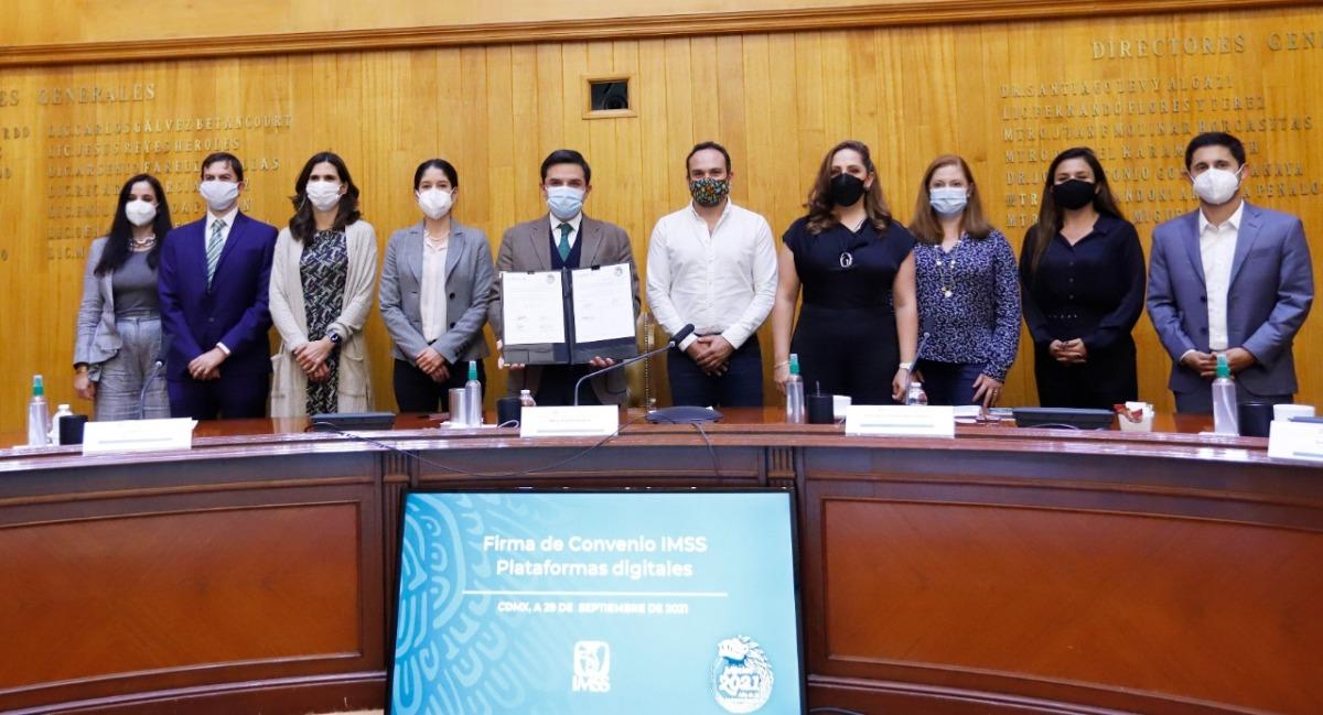 IMSS firma convenios con plataformas de servicios digitales para promover la incorporación voluntaria de personas trabajadorasindependientes