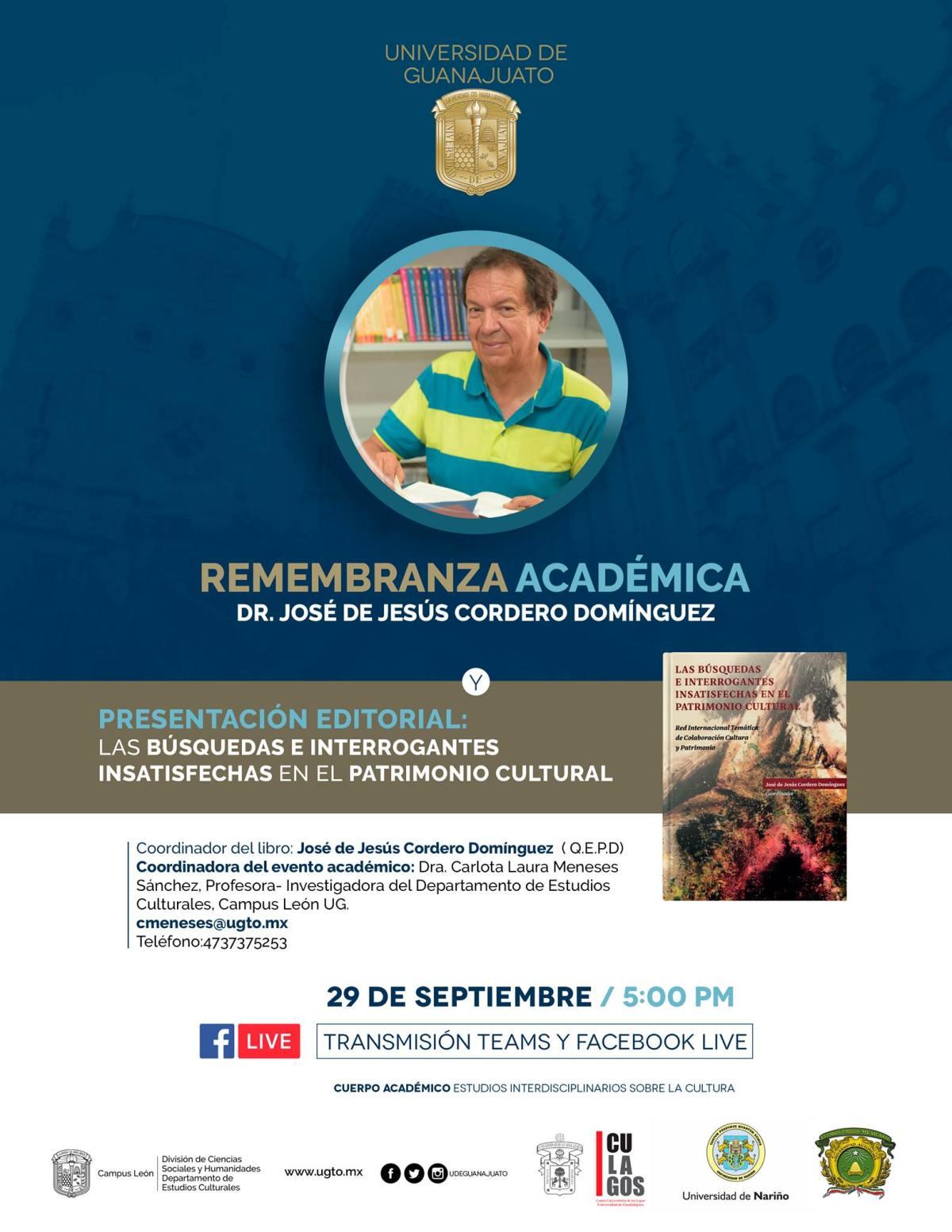 Dr. José de Jesús Cordero Domínguez, cúmulo de legado académico en la UG