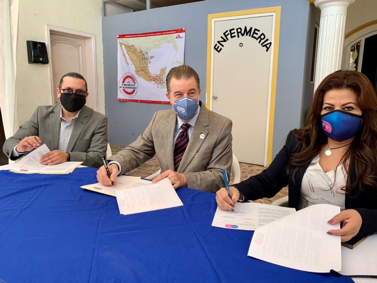 Conjunta Guanajuato esfuerzos y acciones en favor de las personas Migrantes entránsito.